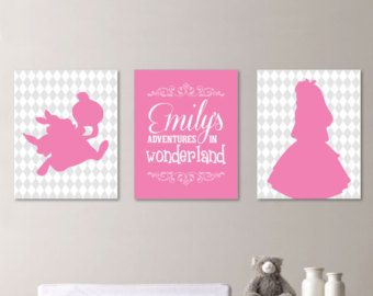 Baby Nursery Art Print Decor Alice In