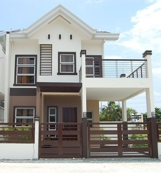 One Alignment Open Terrace And Garage Https Www Youtube Com Channel Ucxpj8hxf Jcir49vda Philippines House Design Two Story House Design 2 Storey House Design