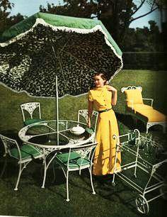 Original vintage french wrought iron garden furniture bistro