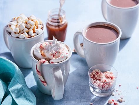 Recipe of the Day: Slow-Cooker Hot Chocolate | Whip up a big batch of perfect hot chocolate with this effortless slow-cooker recipe. Keep the setting on warm while serving and set up the various toppings for the most festive make-your-own hot chocolate bar!