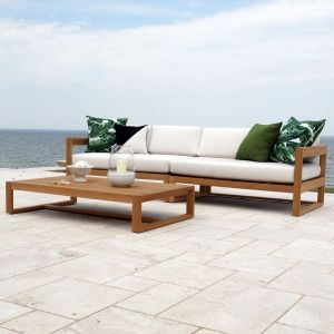 Casita Sofa With Oyster Cushions Sectional Sofa Outdoor Sofa Sets Teak Outdoor Furniture