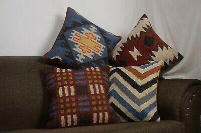 4 Set Of Handmade Kilim Vintage Pillows Throw Indian Jute Cushions Cover 10033 Fashion Home Garden Homed In 2020 Vintage Pillows Handmade Kilim Handmade Kilim Rugs
