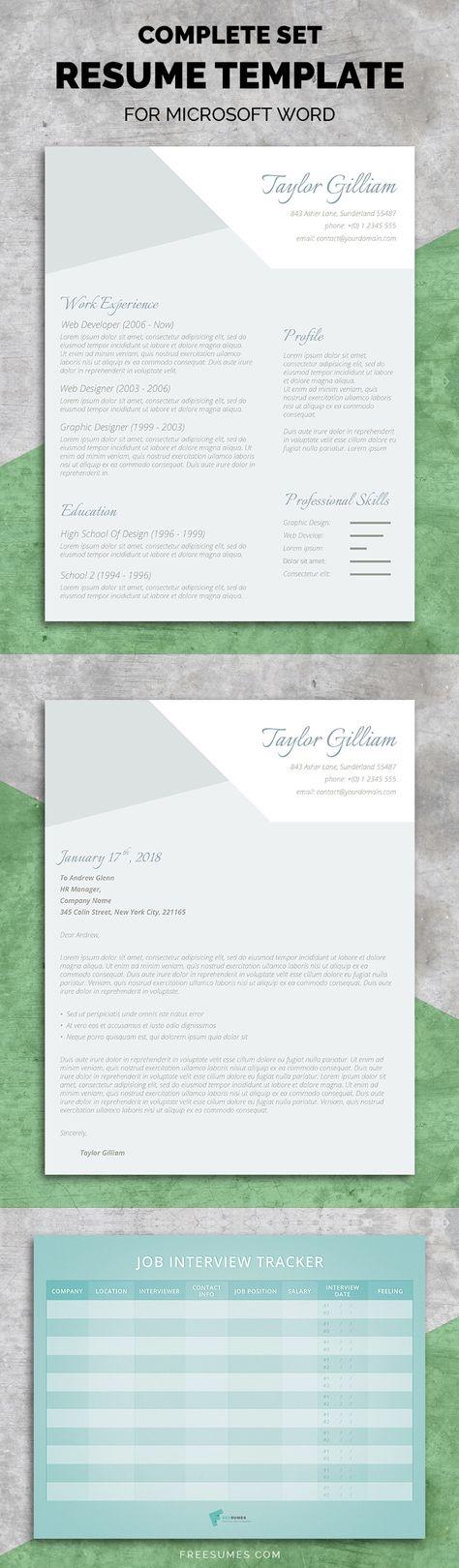 Elegant Resume Template Cover Letter Resume Templates $1500 - resume templates in word 2018