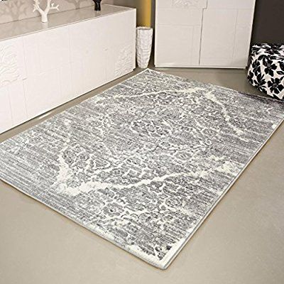 Amazon Com 4620 Distressed Silver 7 10x10 6 Area Rug Carpet Large New Kitchen Dining Rugs On Carpet Area Rugs Large Carpet