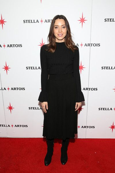 Actor Aubrey Plaza attends the 'Lizzie' cast party in Cafe Artois during the Sundance Film Festival.
