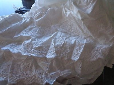Bed Skirts 66726 Pottery Barn Kids White Eyelet Twin 16 Drop