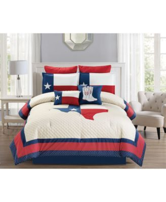 Robot Check Bed In A Bag Full Comforter Sets Lone Star Bedding