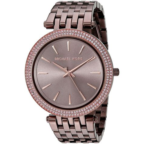 >>>Michael Kors OFF! >>>Visit>> Iconic designer Michael Kors is one of the top names in American fashion with fashion forward styles and bold designs. This womens watch from the Darci collection features a brown stainless steel br