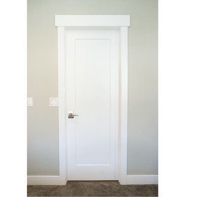 Stiledoors Primed Shaker 1 Panel Solid Manufactured Wood Panelled Mdf Slab Interior Door Door Size 80 H X With Images Slab Door Doors Interior Door Design Interior