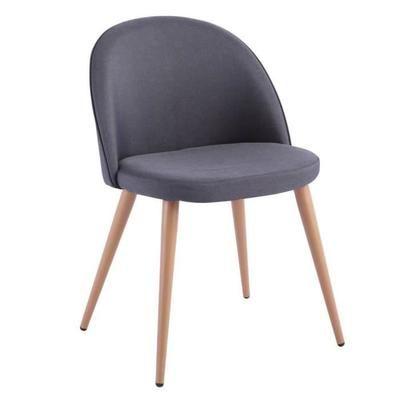 Chaise Design Scandinave Velvet Tissu Graphite Achat Vente