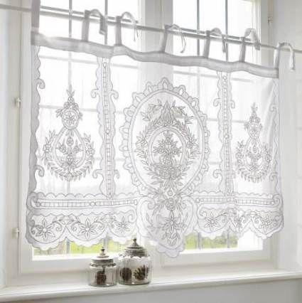 Great Pic Bathroom Window Voile Por