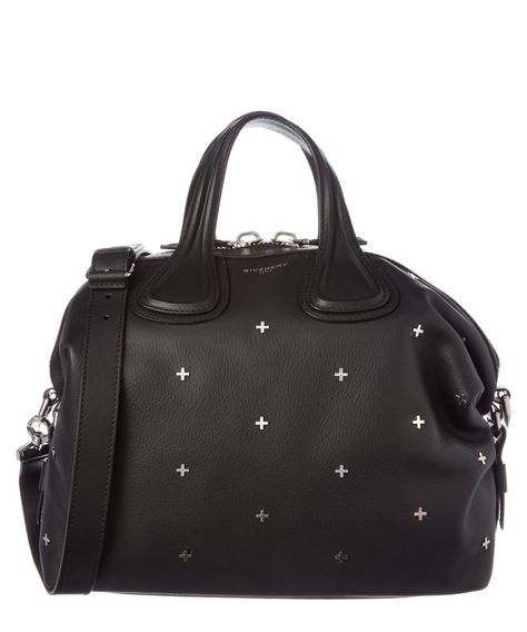 ee5537ae7fed GIVENCHY GIVENCHY NIGHTINGALE MEDIUM LEATHER SATCHEL'. #givenchy #bags  #shoulder bags #hand bags #leather #satchel #lining #