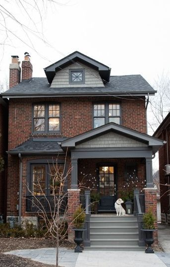 They Say It S The Inside That Counts But These Homes Are Pretty Stylish On The Outside Too Brick Exterior House House Paint Exterior Painted Brick Exteriors