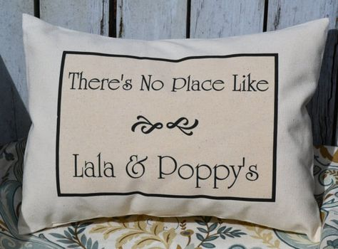 grandparents christmas gift pillow personalized by featherhen
