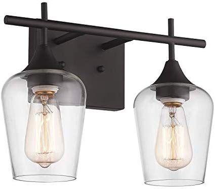 Amazon Com Osimir 2 Light Bathroom Vanity Light Fixtures Vintage Indoor Wall Lamp Lantern In 2020 Light Fixtures Bathroom Vanity Wall Mounted Light Sconce Lighting