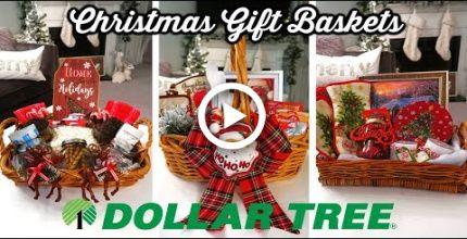 Diy Dollar Tree Christmas Gift Baskets Budget Christmas