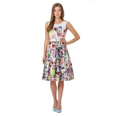 White Floral Print Prom Dress At Debenhams Ie Dresses Floral Print Prom Dress Stunning Prom Dresses
