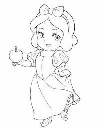Resultado De Imagen Para Dibujo De La Blanca Nieve Bebe Para Colorear Princesas Para Dibujar Princesa Para Pintar Bebes Para Dibujar