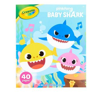 Baby Shark Coloring Book 40 Coloring Pages Crayola Com Crayola In 2020 Shark Coloring Pages Baby Shark Coloring Books