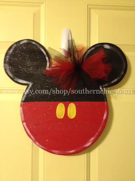 Mickey Mouse Doorhanger on Etsy, $30.00