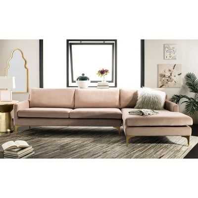 Brayson Chaise Sectional Sofa Pale