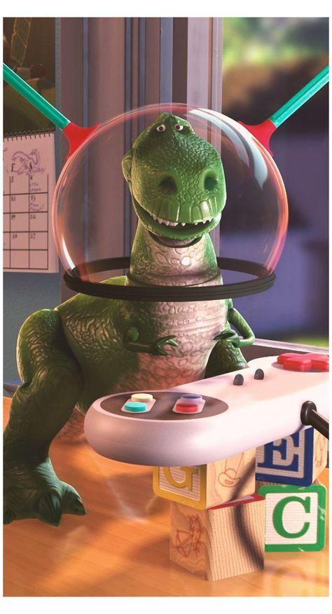 rex toy story wallpaper