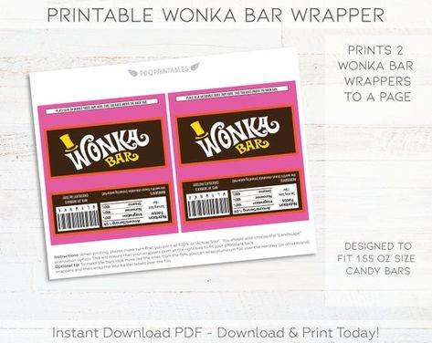 photo relating to Printable Wonka Bar Wrapper identify WILLY WONKA Customized Sweet BARS - Sweet Bar: Oompa Loompa Bar