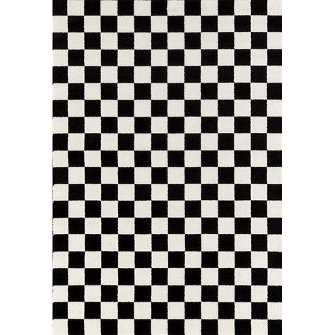 1909 Checkered Black And White 8 X 10 Area Rug Carpet 8 X 10