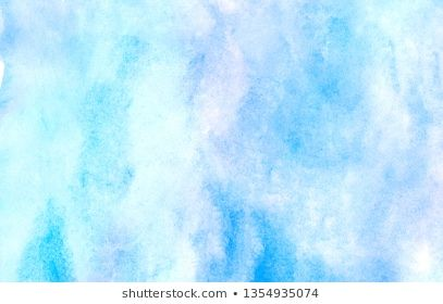 Light Blue Watercolor Background Hand Draw Painted Background