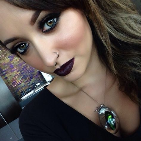 Nightmoth lip pencil with smoked purple lipstick from mac is my favorite combo for a dark lip