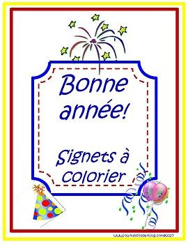 Bonne Annee Signets A Colorier In 2020 Engagement Activities Math Resources Classroom Decorations