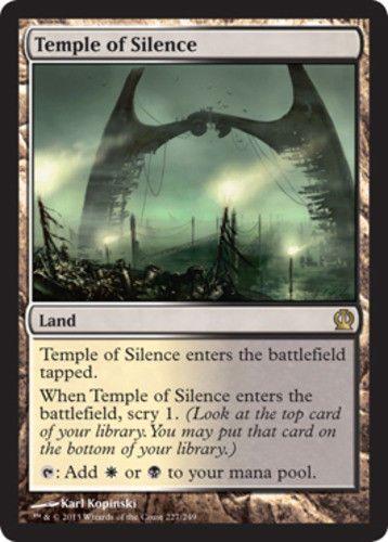 4 PLAYED Temple of Abandon Land Theros Mtg Magic Rare 4x x4