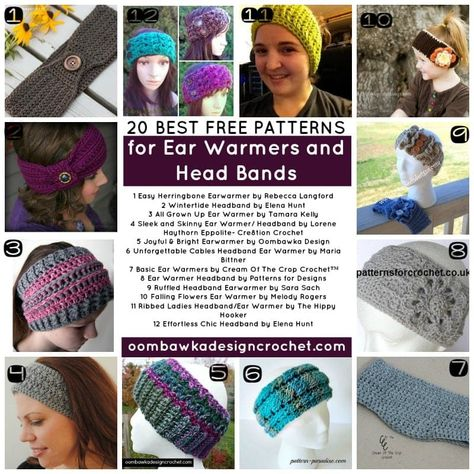 e67bb9f11c3 Messy Bun Hats and Ponytail Hats are great! but sometimes you only need to  cover your ears because it is too warm for a full sized hat! via   OombawkaDesign