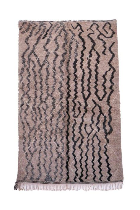 2x7 feet Vintage Azilal Rugs Beige Brown Tribal Geometric Runners moroccan handwoven rug Mixed Wool /& Cotton