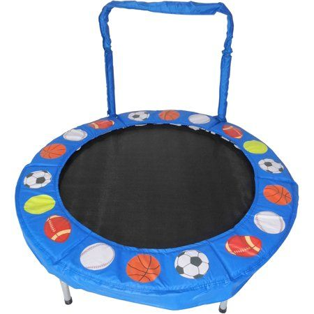 Jumpking Trampoline 4 Foot Bouncer For Kids Blue Sport Balls
