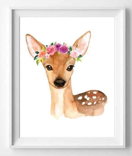 Watercolor Woodland Animals Free Printable Art Nursery Art Free