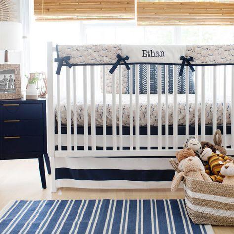 Woodland Crib Bedding   Woodland Baby Bedding   Gray Crib