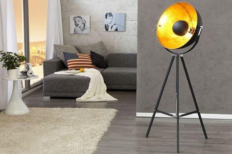 Stehlampe 'STUDIO', Retro, Lampe, Vintage, Edelstahl, Aluminium, H: bis 160cm | eBay
