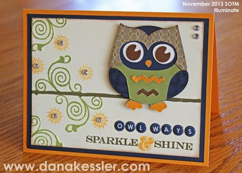 Dana Kessler: Owl Artbooking Card November SOTM Illuminate #Artbooking