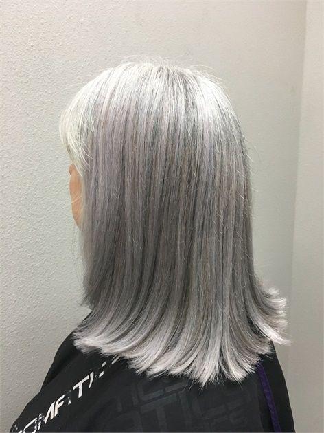 COLOR CORRECTION: Matching Natural Silver Hair | Salt ...