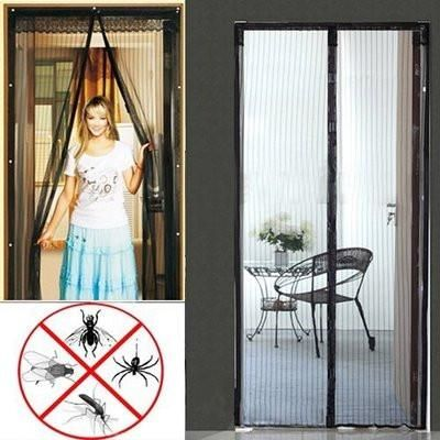 Easy Mesh Magnetic Magnet Holding Closing Bug Screen For House
