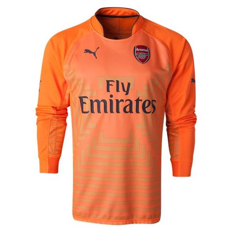 c07bfa4ad PUMA Men s Arsenal 14 15 Home Long Sleeve Goalkeeper Jersey Orange ...