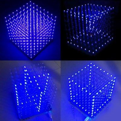 8 X 8 X 8 Color Led 3d Light Cube For Diy Project Diy Diy 2019 Led