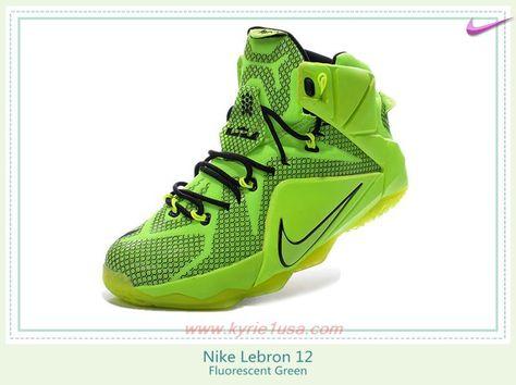 64316b3195f Nike Lebron 12 684593-419 Fluorescent Green Store Online AZLSYF ...