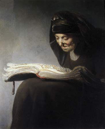 Rembrandt van Rijn, Rembrandt's Mother Reading, 1629