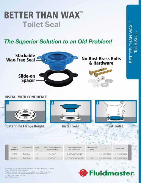 Fluidmaster 7530p8 Better Than Wax Waxfree Toilet Bowl Gasket To Learn More Go To Image Link This Is An Affiliate L Toilet Bowl Bathroom Accessories Wax