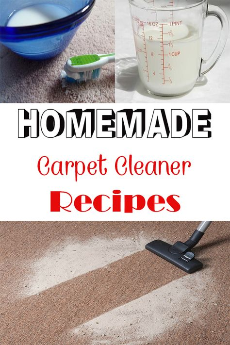 Homemade Carpet Cleaner Recipes Do It Yourself Carpet