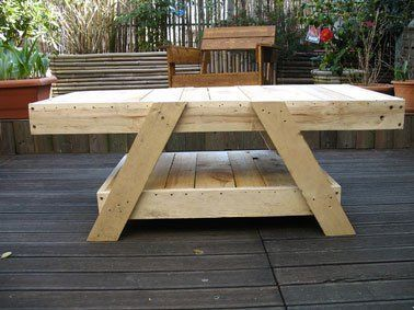 Make A Garden Living Room In A Palette Table Basse En Bois De