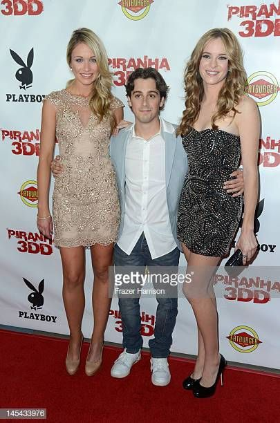 Actors Katrina Bowden Matt Bush And Danielle Panabaker Arrive At The Danielle Panabaker Katrina Bowden Hollywood Event