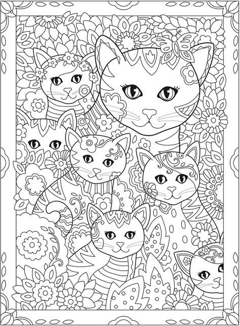 Pin by Cynthia Pease on ART Therapy - Coloring | Cat ...